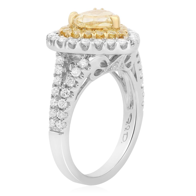 Roman & Jules Yellow Diamond Heart Ring
