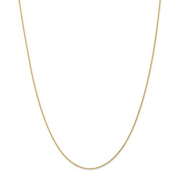 14K 1mm Round Parisian Wheat Chain