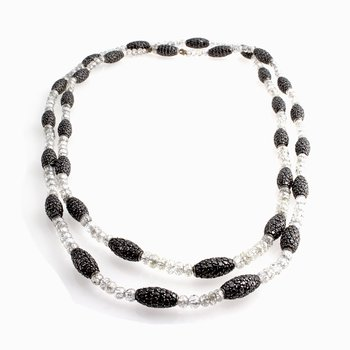 DIAMOND BEADS AND BLACK DIAMOND NECKLACE