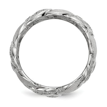 Sterling Silver Brilliant Embers Rhodium-plated CZ Ring