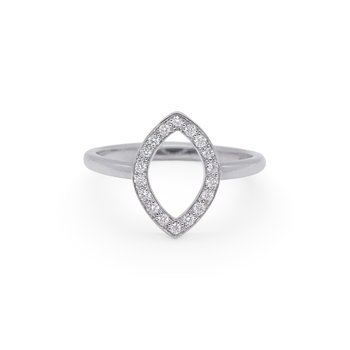 White Gold Marchesa Ring with Diamonds