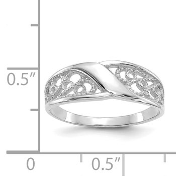 14k White Gold Filigree Ring