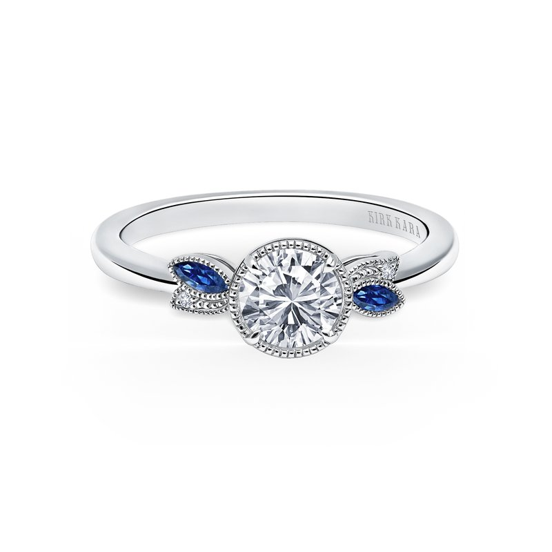 Nature-Inspired Sapphire Engagement Ring