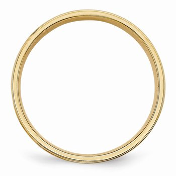 14k Yellow Gold Light Comfort Fit Brush Satin Fancy Band