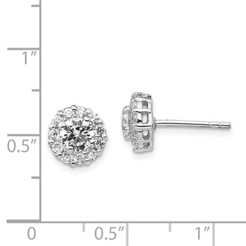 Cheryl M Sterling Silver CZ Stud Earrings