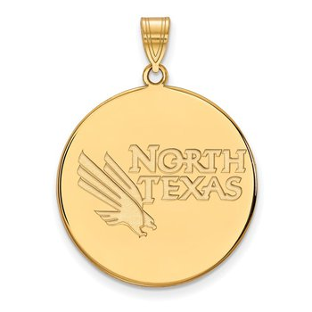 Gold-Plated Sterling Silver University of North Texas NCAA Pendant