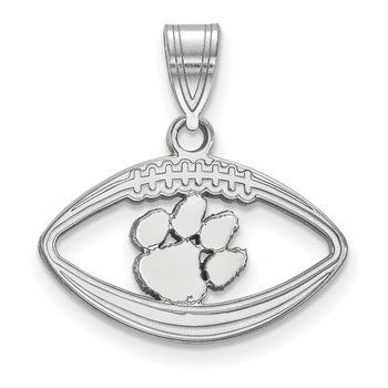 Sterling Silver Clemson University NCAA Pendant