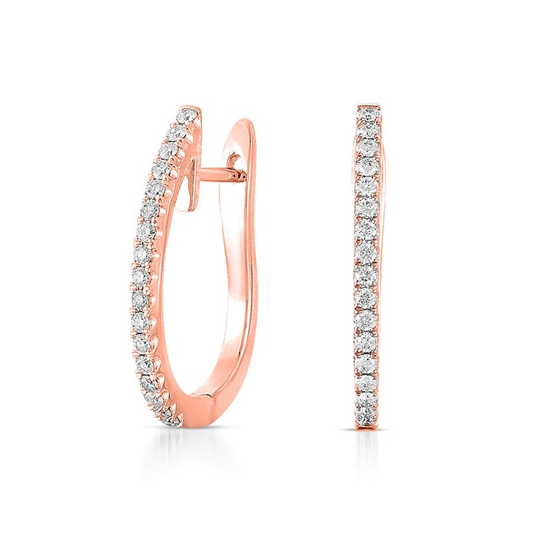 S. Kashi  & Sons Rose Gold 20mm Hoop Earring