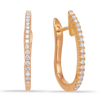 Rose Gold 20mm Hoop Earring