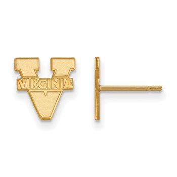 Gold University of Virginia NCAA Earrings