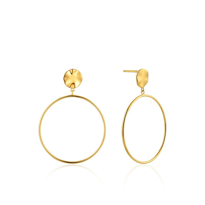 Ania Haie Ripple Front Hoop Earrings