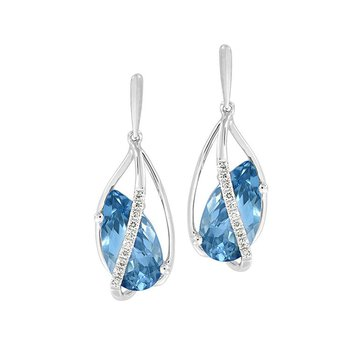 Aqua Blue Spinel Earrings-CE4287WAQ
