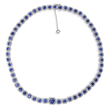 Sapphire & Diamond Statement Necklace