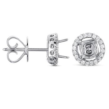 Four Prong Earring Jackets For 1ct TW