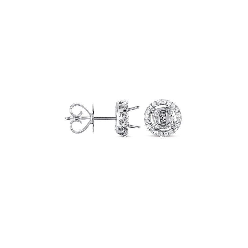 S. Kashi  & Sons Four Prong Earring Jackets For 1ct TW