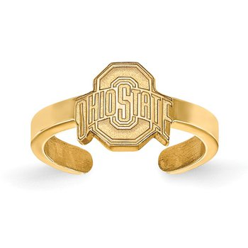 Gold-Plated Sterling Silver Ohio State University NCAA Ring