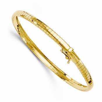 Leslie's 14k 4mm Domed Omega Bracelet