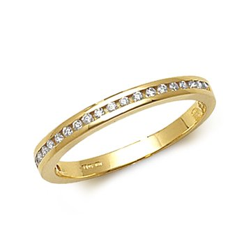 1/2 Eternity Channel Set Diamond Band