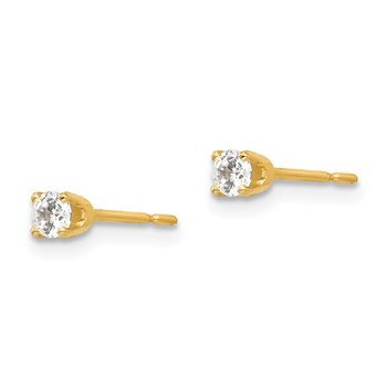 14k 2.75mm CZ stud earrings