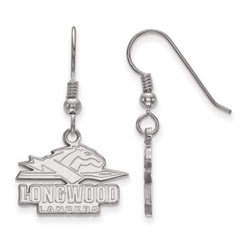 Sterling Silver Longwood University NCAA Earrings