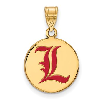 Gold-Plated Sterling Silver University of Louisville NCAA Pendant