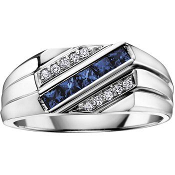 Sapphire Gents Ring
