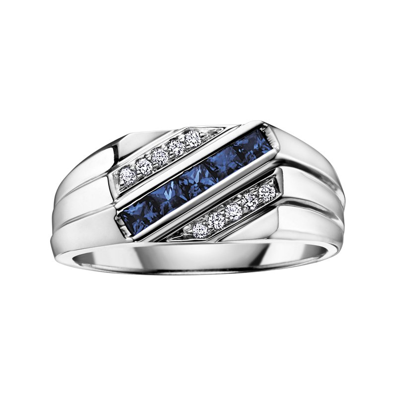 Timeless Beauty Sapphire Gents Ring