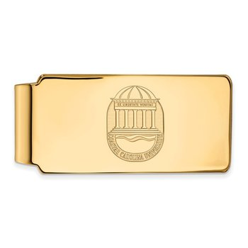 Gold Coastal Carolina University NCAA Money Clip