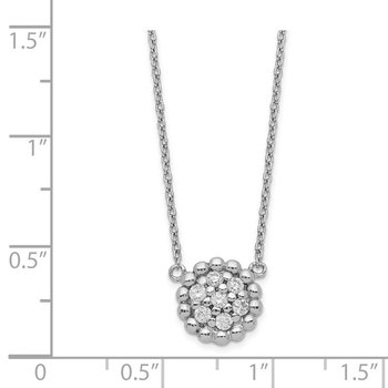 Sterling Silver Rhodium Plated CZ Necklace