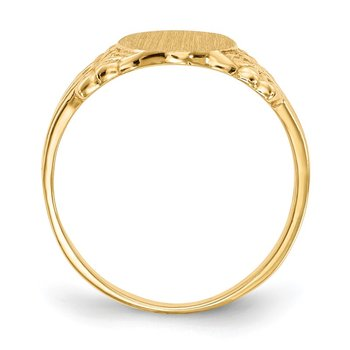 14k 10.0x8.0mm Closed Back Signet Ring