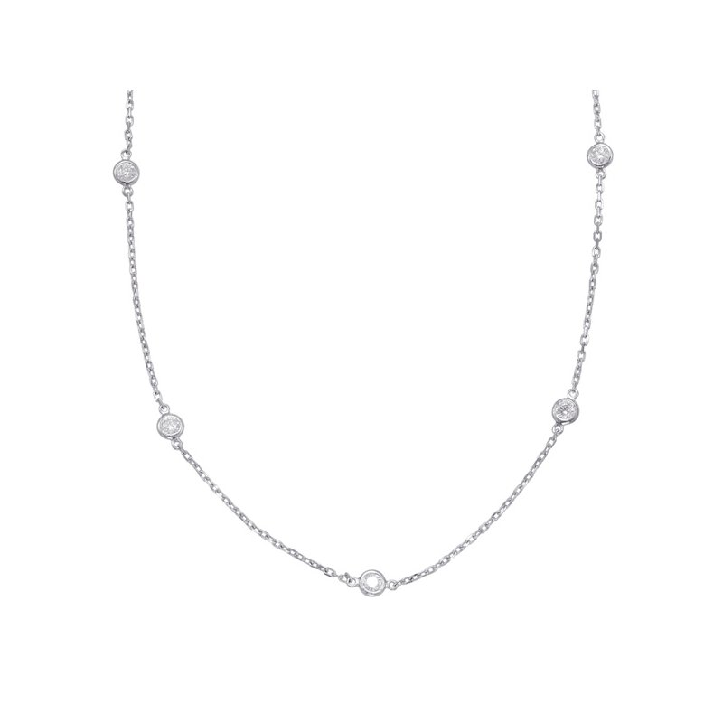S. Kashi  & Sons White Gold Diamond By The Yard Necklace