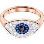 Swarovski Symbolic Evil Eye Ring, Multi-colored, Rose-gold tone plated