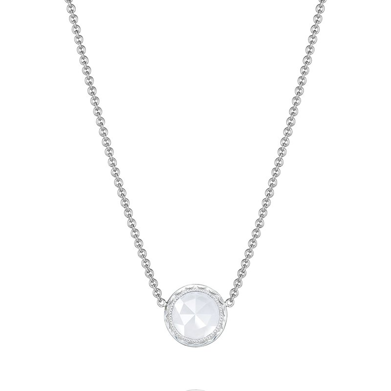 Tacori Fashion Floating Bezel Necklace featuring Chalcedony