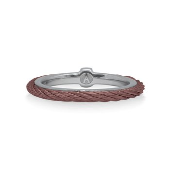 Burgundy Cable Stack Ring