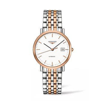 The Longines Elegant Collection 37mm Stainless Steel/Gold Cap 200 Automatic