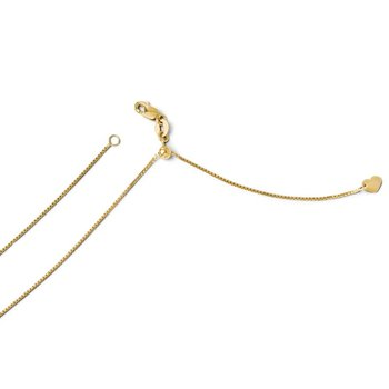 Leslie's 14K Adjustable .8mm Box Chain