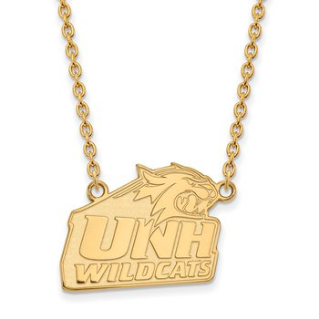 Gold University of New Hampshire NCAA Necklace