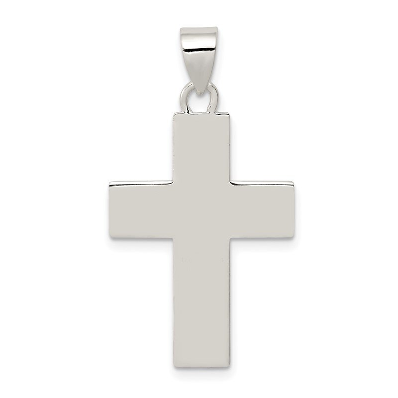Quality Gold Sterling Silver Polished The Lords Prayer Cross Pendant