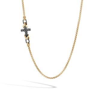 Asli Classic Chain Link 2.7MM Necklace in Silver and 18K Gold