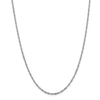 Leslie's 14K White Gold 1.9mm Singapore Chain Anklet