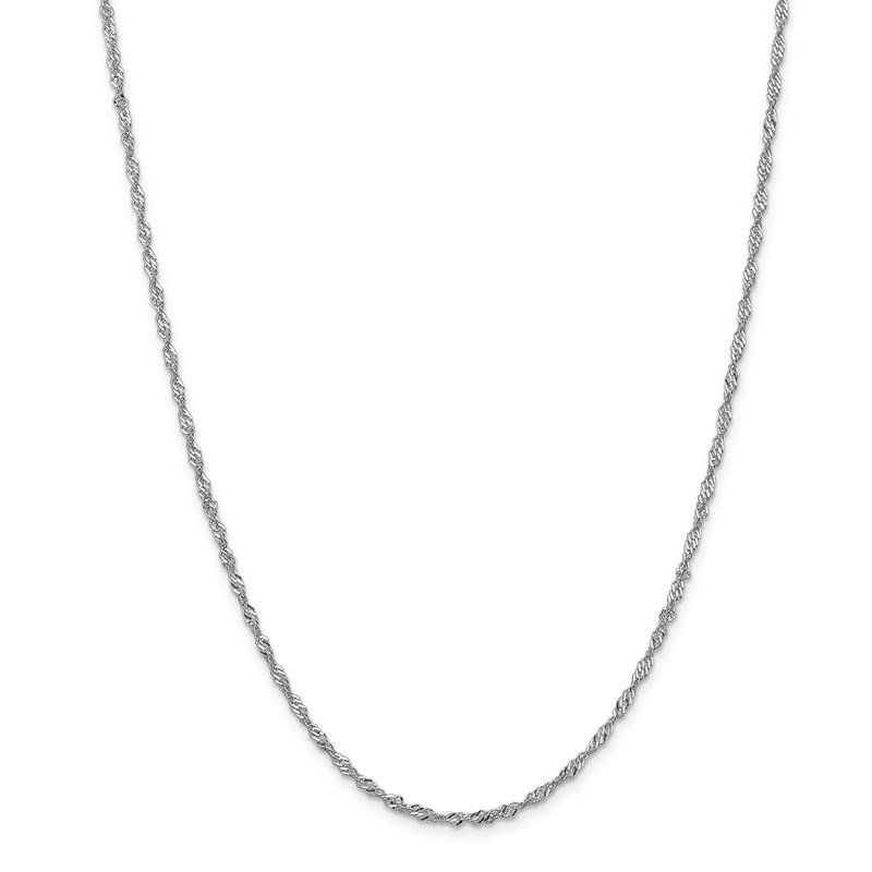 Leslie's Leslie's 14K White Gold 1.9mm Singapore Chain Anklet