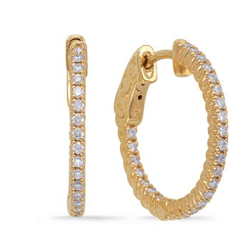 Yellow Gold 3/4 Securehinge Hoop Earring