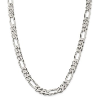 Sterling Silver 9mm Figaro Chain