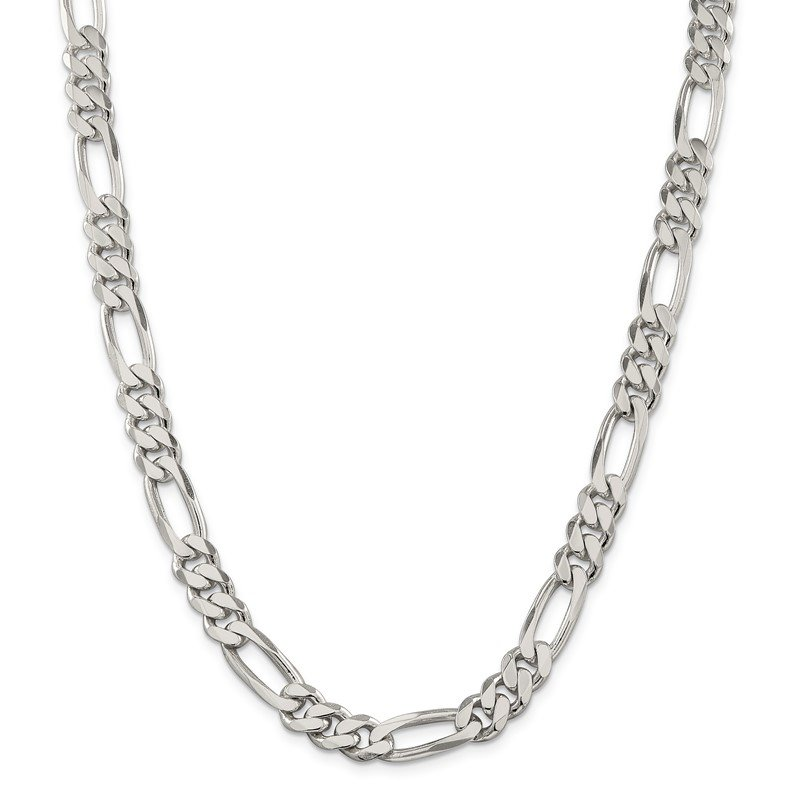 Quality Gold Sterling Silver 9mm Figaro Chain