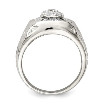 Sterling Silver Men's CZ Ring