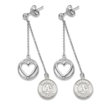 Sterling Silver Oakland Athletics MLB Earrings
