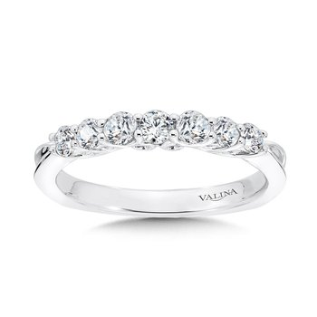Tapered Straight Diamond Wedding Band