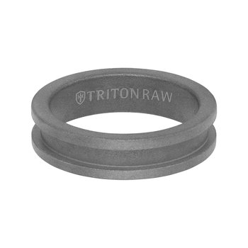 PURE RAW - Slot Profile Raw Matte Finish Men's Wedding Band