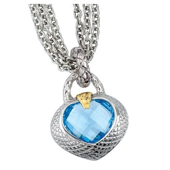 Traversa Gemstone Heart Pendant
