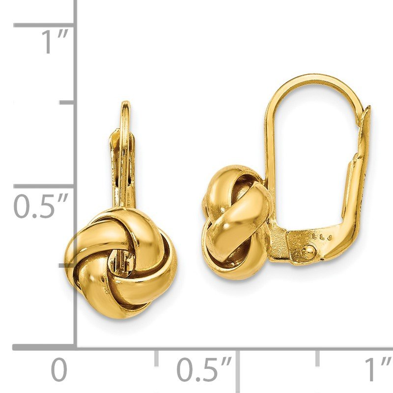 Leslie's Leslie's 14K Polished Love Knot Leverback Earrings